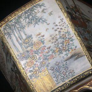 Pot hexagonal satsuma japonais