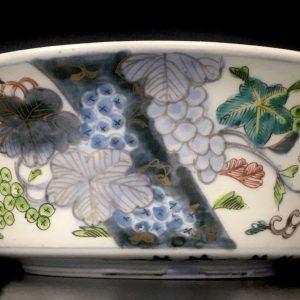 Japanese Porcelain Enameled Hizen Basin