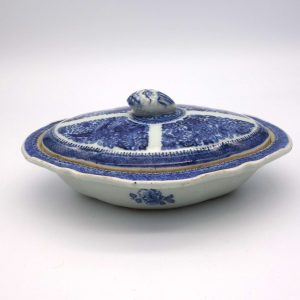Fitzhugh Pattern Oval Covered Dish