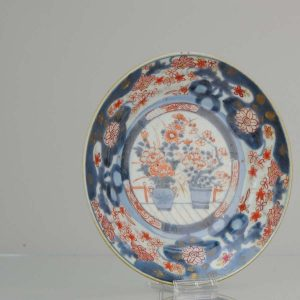 17/18C Japanese Edo Porcelain Imari Arita Dish flowers