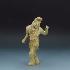 Tang Dynasty Pigment Decorated Groom Figure