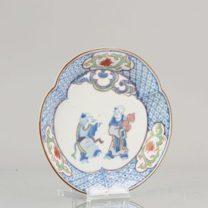 Edo Period Japanese Porcelain Plate Antique ko-Kutani ca 1660-80