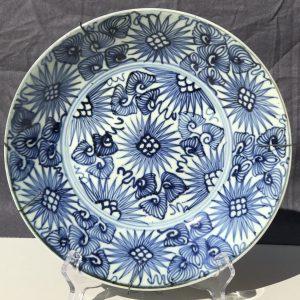 Chinese Jiaqing Period Plate with Sunburst Pattern (1796-1820)