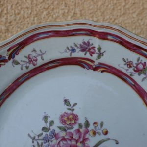Chinese Famille Rose Scalloped Export Plate Qianlong period (1736-1795)