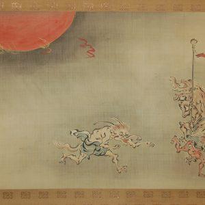 Hyakki yagyo, goblins, Kano Seisenin, hanging scroll painting, Japan.