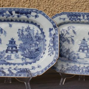 Échelles octogonales (x2) Porcelaine Qianlong (1736-1795) Chine