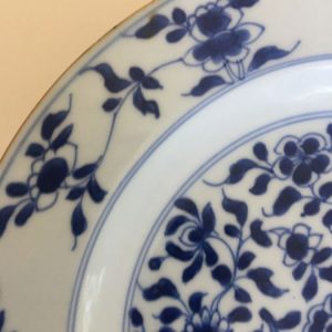 18th Century Chinese Blue and White porcelain plate – Kangxi Period