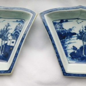 Kangxi sweetmeat dishes,pair
