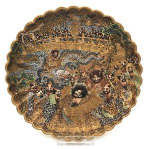 """Thousand Immortals"" Satsuma Plate"