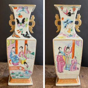 A rare antique rose mandarin vase First half of 19th c Jiaqing/Daoguang #789