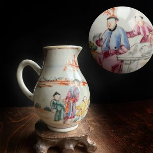 Antique Chinese Porcelain creamer early 18th C Famille Rose Qianlong #791